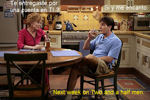 Taringa en Two and a half men