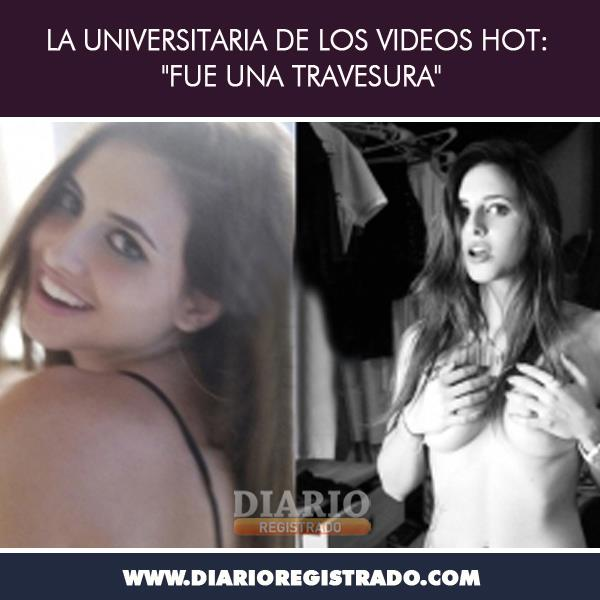 "La universitaria de los Videos Hot""Fue una travesura"