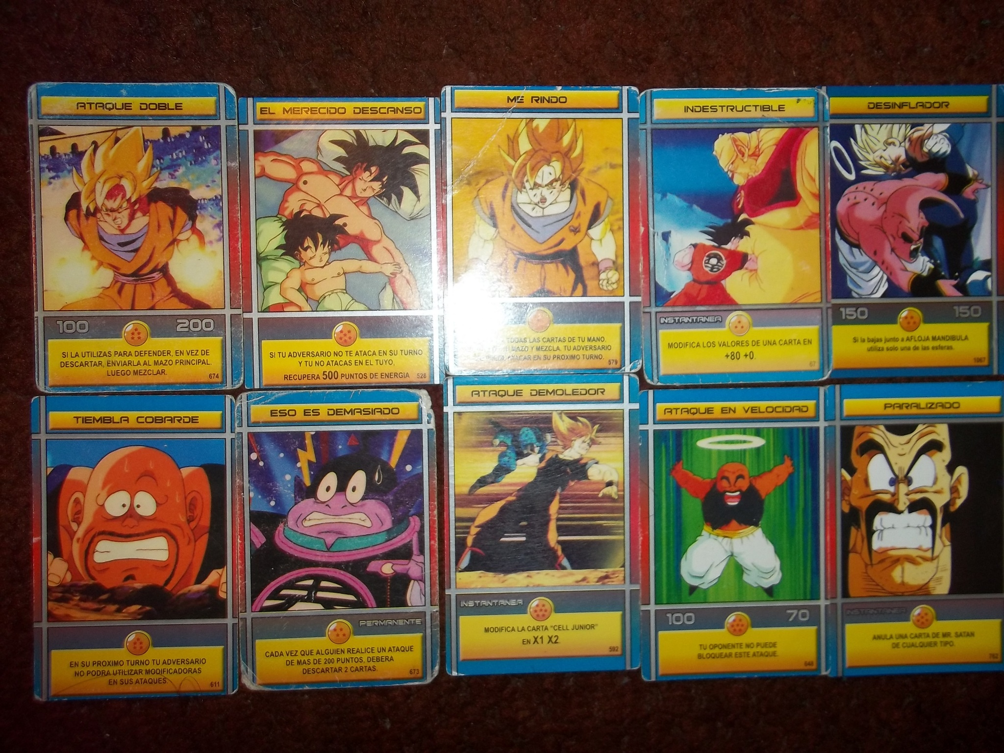 Mi coleccion de cartas de Dragon ball z