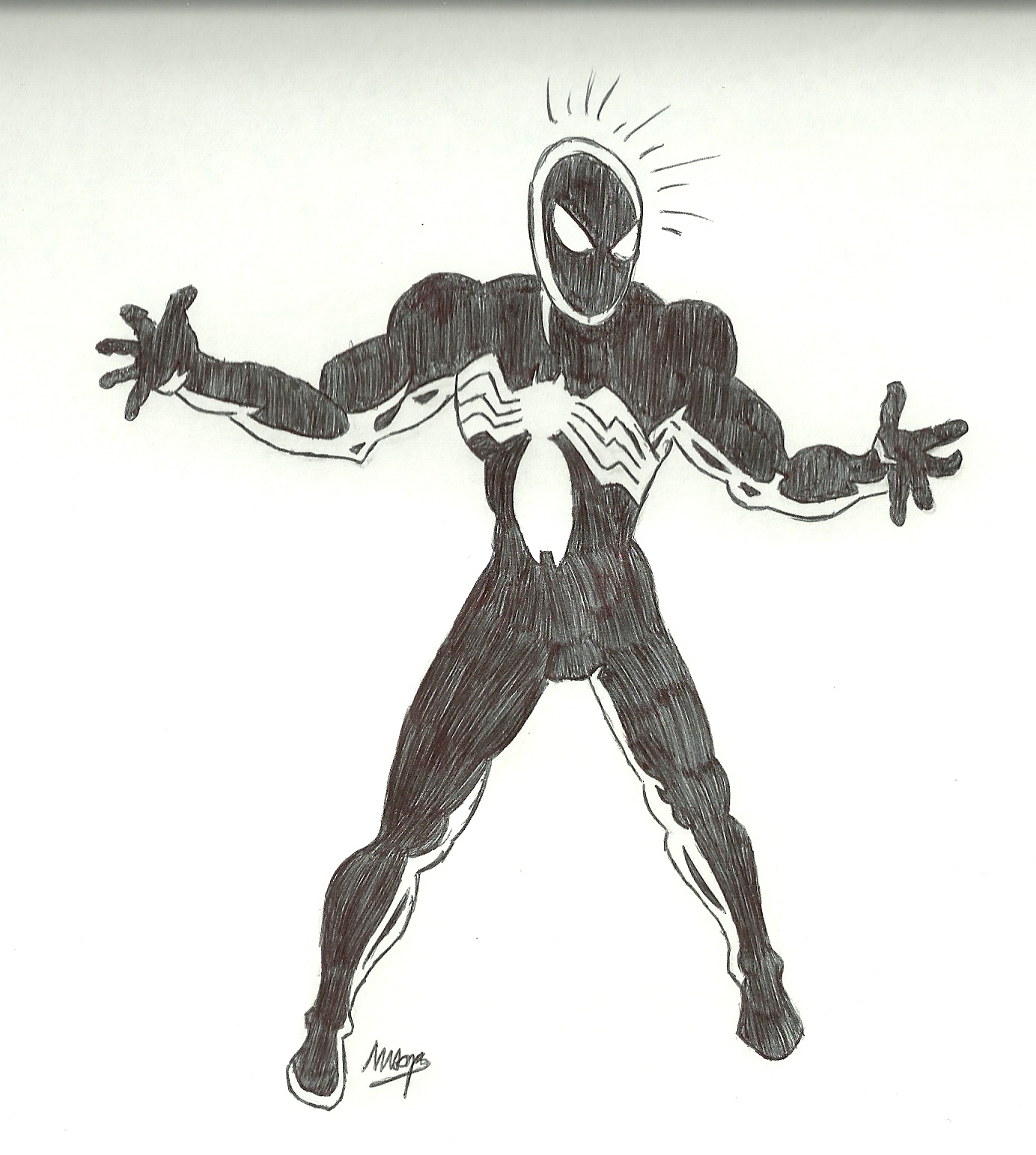 Dibujo de los  spidermans de shattered dimensions