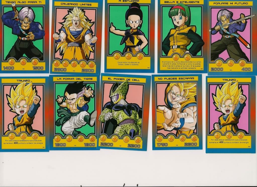 Mis cartas de Dragon Ball Z