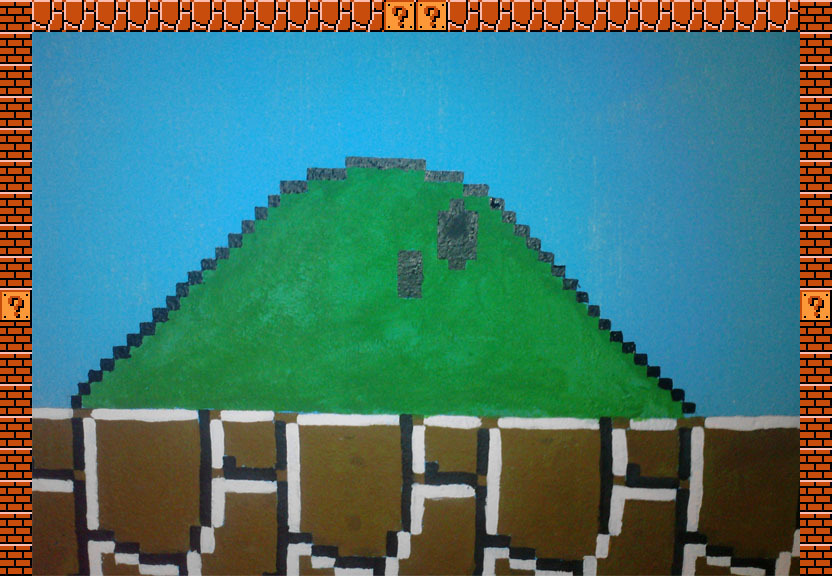 Pinte a Mario Bros en la pared
