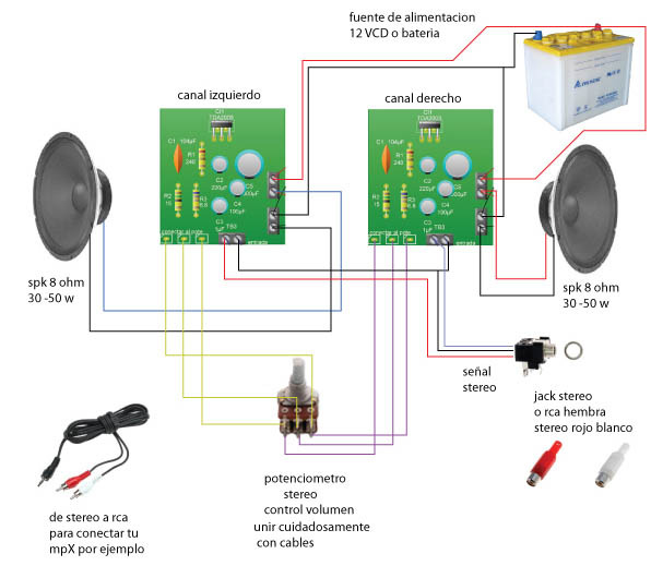 lificador De 10w Stereo on diagrama de amplificador audio
