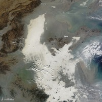 El smog visto desde el espacio.  *Es lo blanco*    http://www.livescience.com/41908-china-smog-seen-from-space.html   #Random