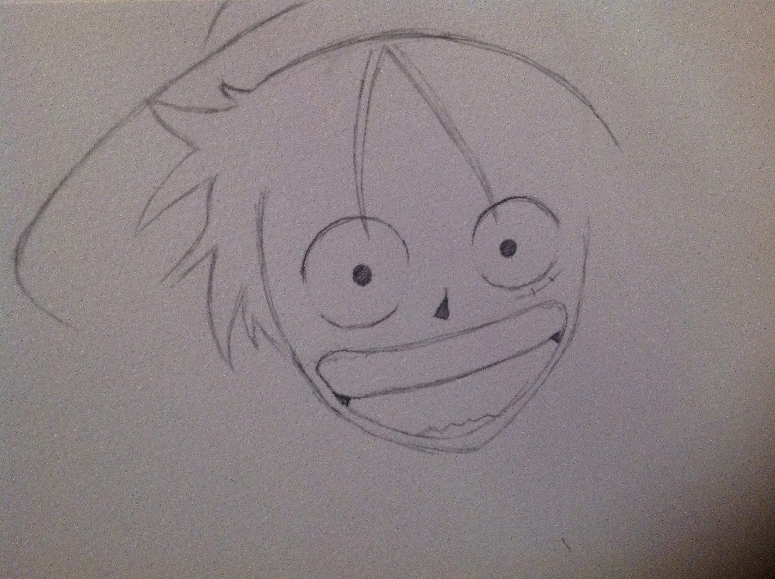 Mis 2 dibujos de one piece luffy one piece fans for Dibujos one piece