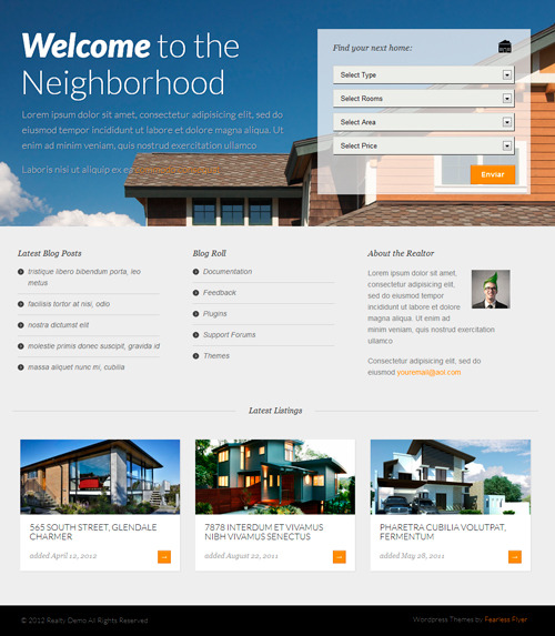 Realty Theme para WordPress