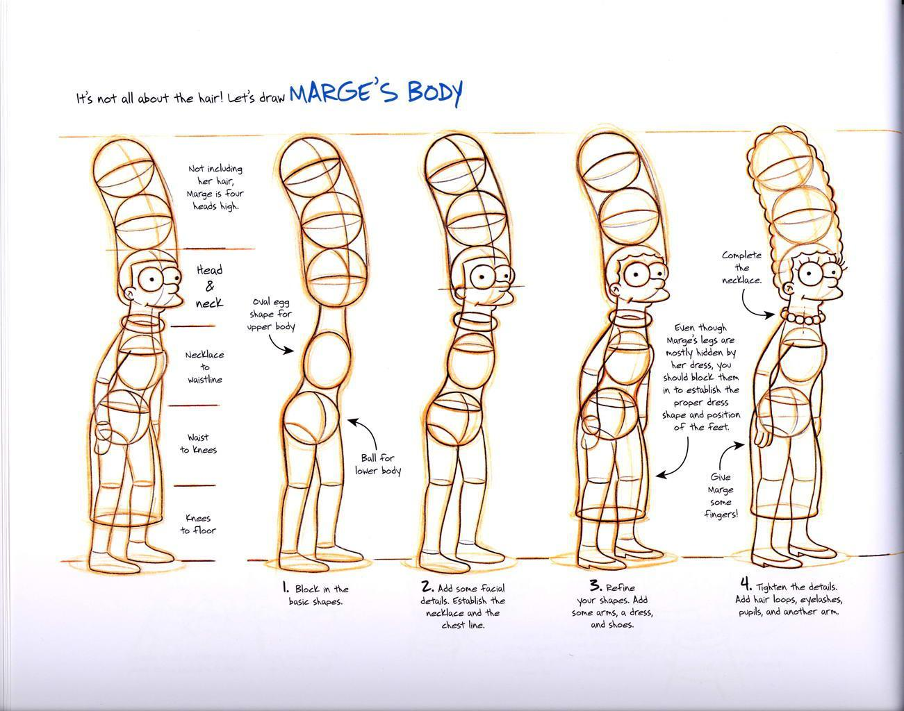 Character Design Basic Shapes : Como dibujar a los simpsons nivel jodido ja hazlo tu