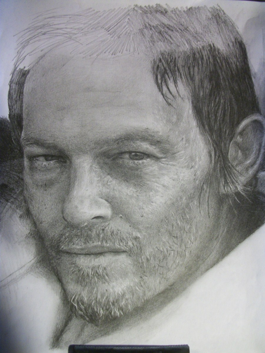 Daryl (The Walking Dead) -dibujo realista
